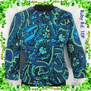 Ruby Rd Multicolor Print Jacket Size 10P